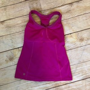 Pink Va Va Built in Bra Tank Athleta Tank